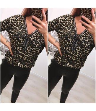Leopard top Brown - ONESIZE