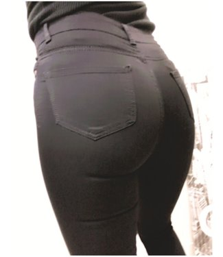 High Waist Stretch Jeans Black