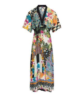 Lange kimono met print