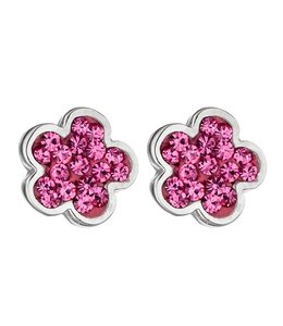 JOBO Kids Stud Earrings Pink Flower