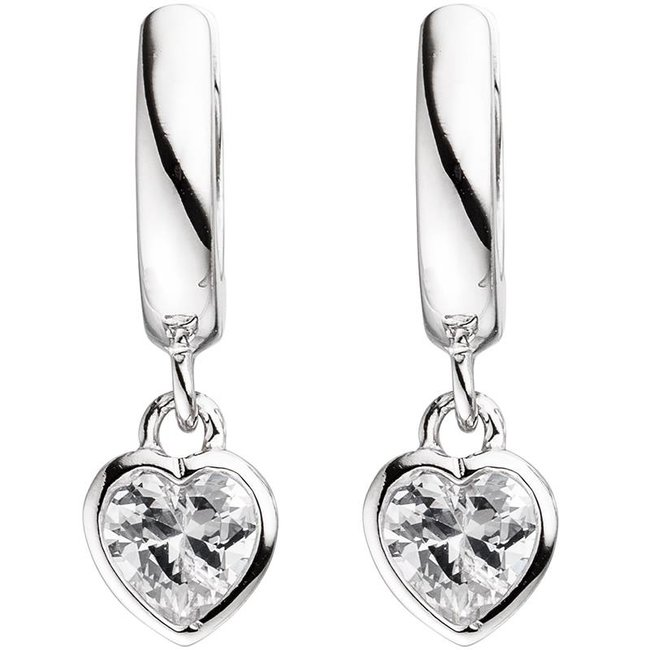 Aurora Patina Kids creole earrings zirconia in silver