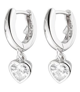 JOBO Kids creole earrings zirconia in silver