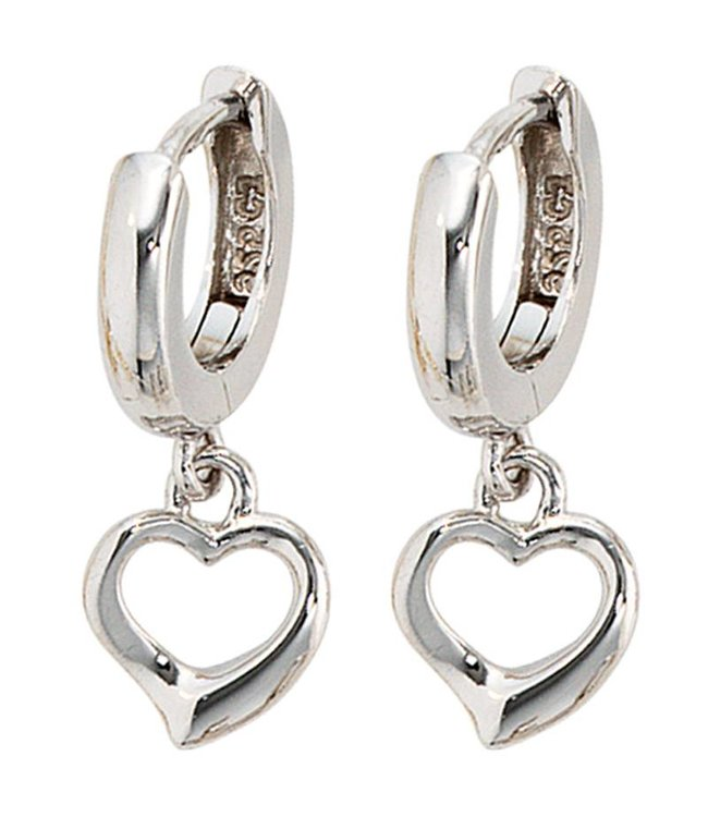 Aurora Patina Kids creole earrings Hearts sterling silver