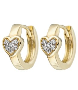 Aurora Patina Kids creoles Heart Gold Zirconia