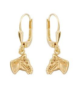 Aurora Patina Gouden kinder oorbellen paardenhoofden