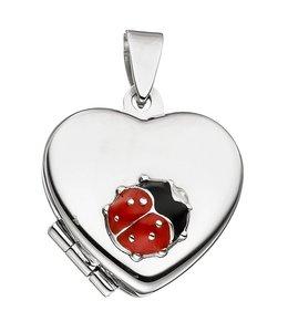 Aurora Patina Kids locket Ladybug silver