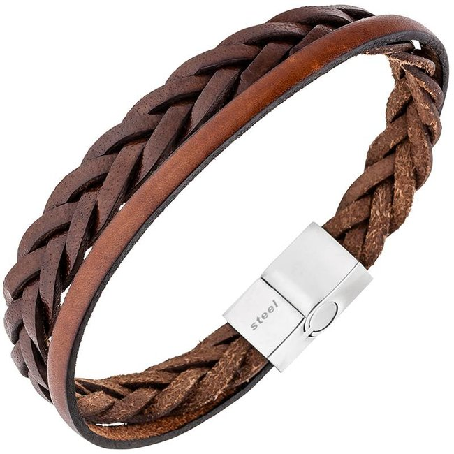 Aurora Patina Men's bracelet brown leather