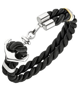 JOBO Men's bracelet Anchor Stainless steel nylon cord