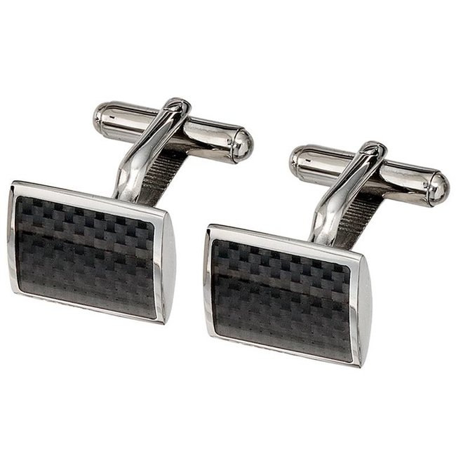 Cufflinks stainless steel and carbon