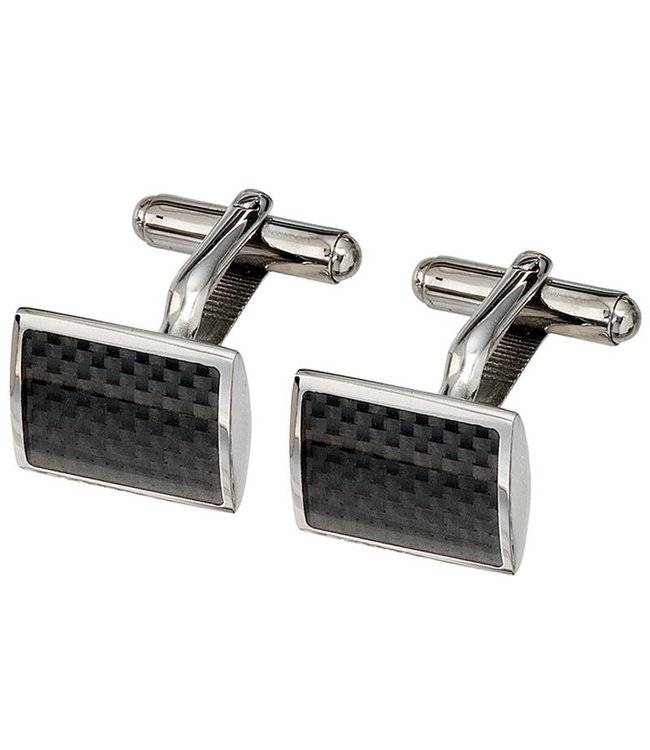 JOBO Cufflinks stainless steel and carbon
