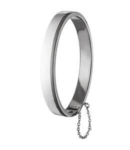 Aurora Patina Silver men's bracelet oval