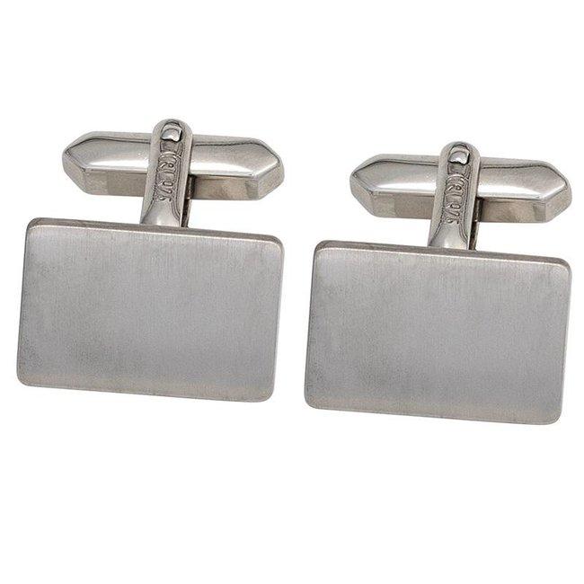 Manchetknopen 925 Sterling Zilver gematteerd