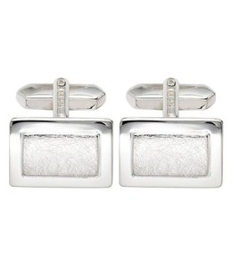 Aurora Patina Silver cufflinks partly matted