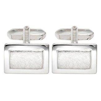 Aurora Patina Silver cufflinks partly matted