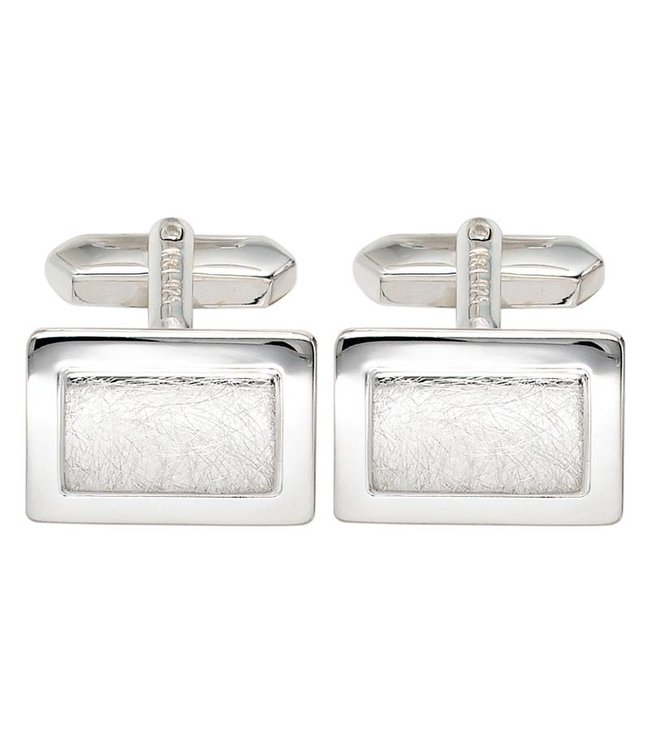 JOBO Cufflinks 925 Sterling Silver partly matted finish
