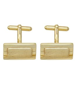 JOBO Gold cufflinks partly matted