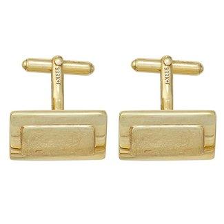 Aurora Patina Gold cufflinks partly matted