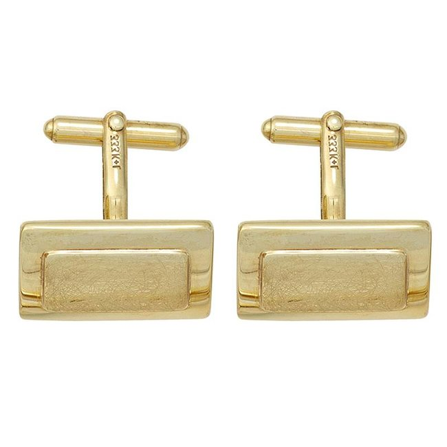 Cufflinks 333 Gold partly matted finish
