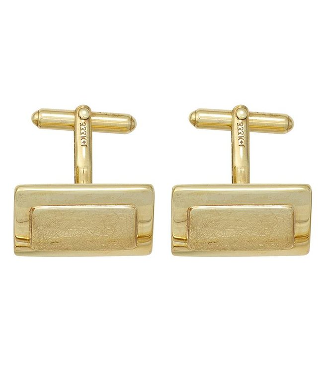 JOBO Cufflinks 333 Gold partly matted finish