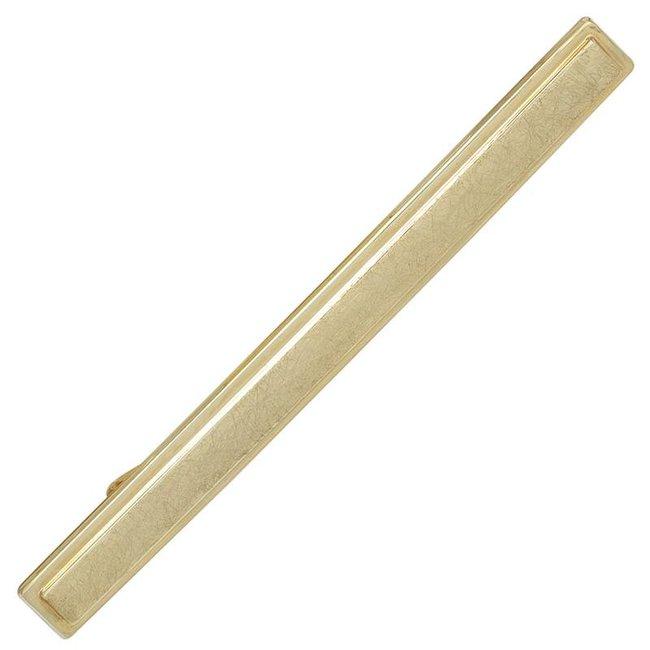 Aurora Patina Gold tie pin matted