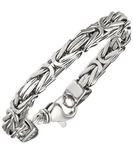 JOBO Zilveren byzantijnse koning armband 7 mm heren
