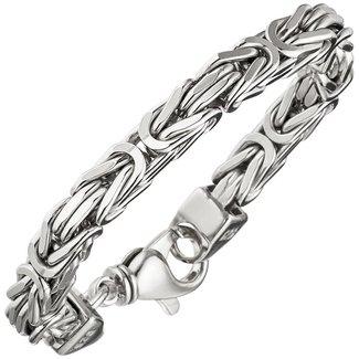 Aurora Patina Zilveren byzantijnse koning armband 7 mm heren