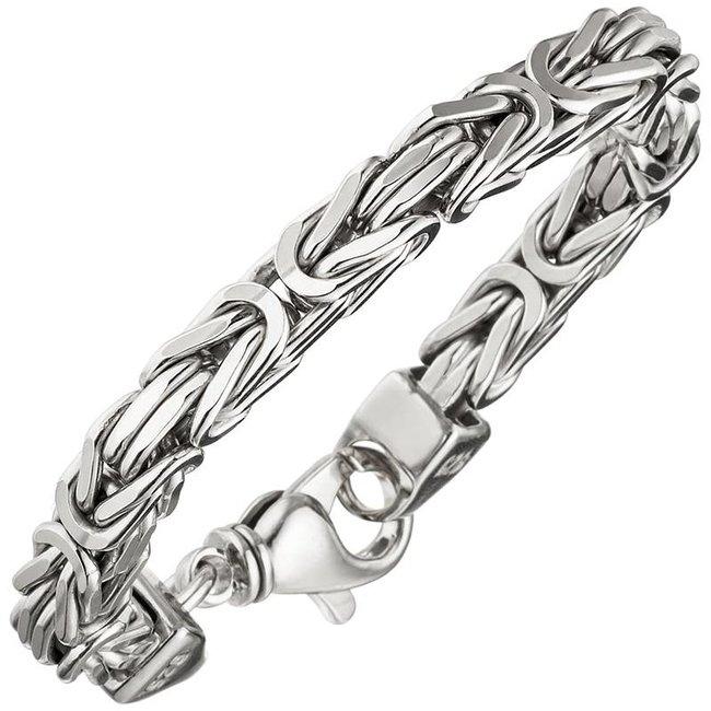 Byzantine King Bracelet 925 Sterling Silver 23 cm