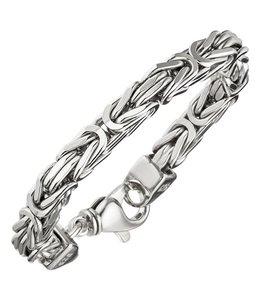 Aurora Patina Zilveren byzantijnse koning armband 7 mm dames