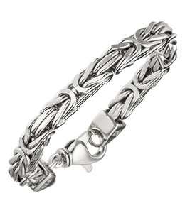 JOBO Zilveren byzantijnse koning armband 7 mm dames