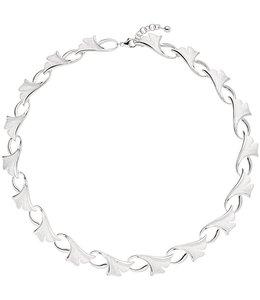 Aurora Patina Zilveren halsketting Ginko gematteerd 47 cm