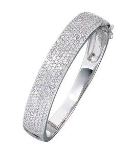 JOBO Silver bracelet zirconia 12 mm wide