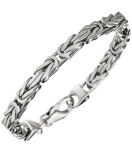 Aurora Patina Zilveren byzantijnse koning armband 23 cm