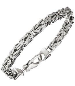 JOBO Silberne byzantinische Königsarmband 23 cm