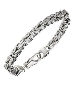 JOBO Silver byzantine king bracelet 21 cm