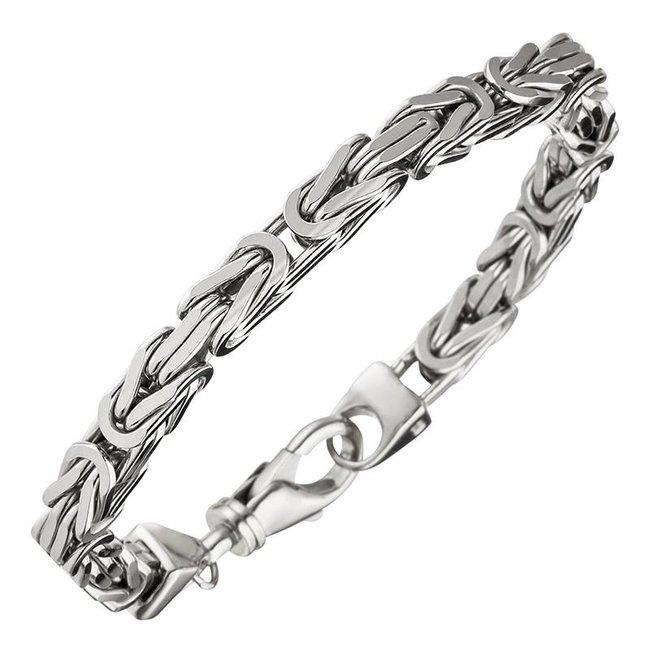 Byzantine King Bracelet 925 Sterling Silver 21 cm
