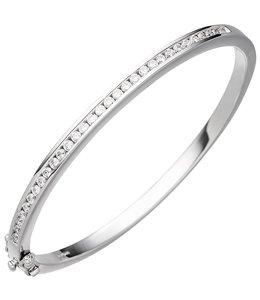 Aurora Patina Zilveren armband met zirkonia 3,5 mm