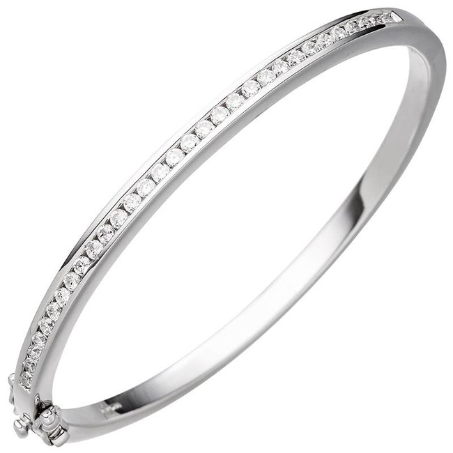 Silver bracelet lined with zirconia 3,5 mm