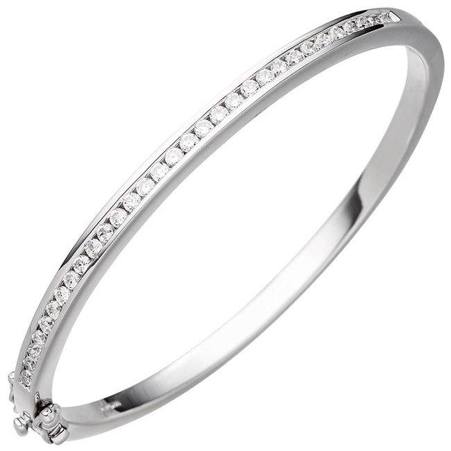 Zilveren armband belegd met zirkonia 3,5 mm