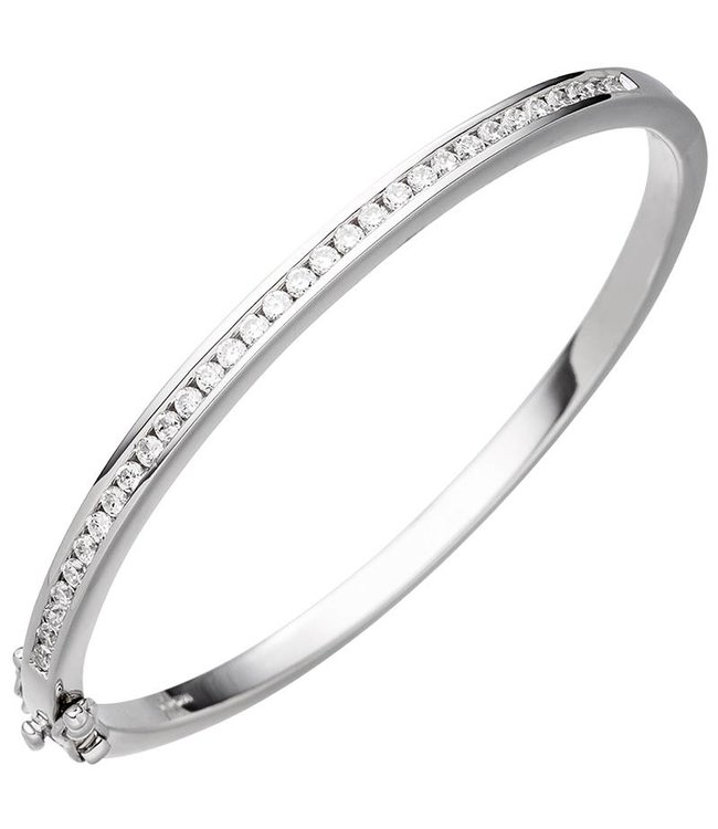 JOBO Zilveren armband belegd met zirkonia 3,5 mm
