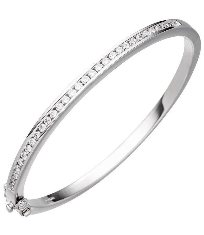 JOBO Silberarmband mit Zirkonia 3,5 mm