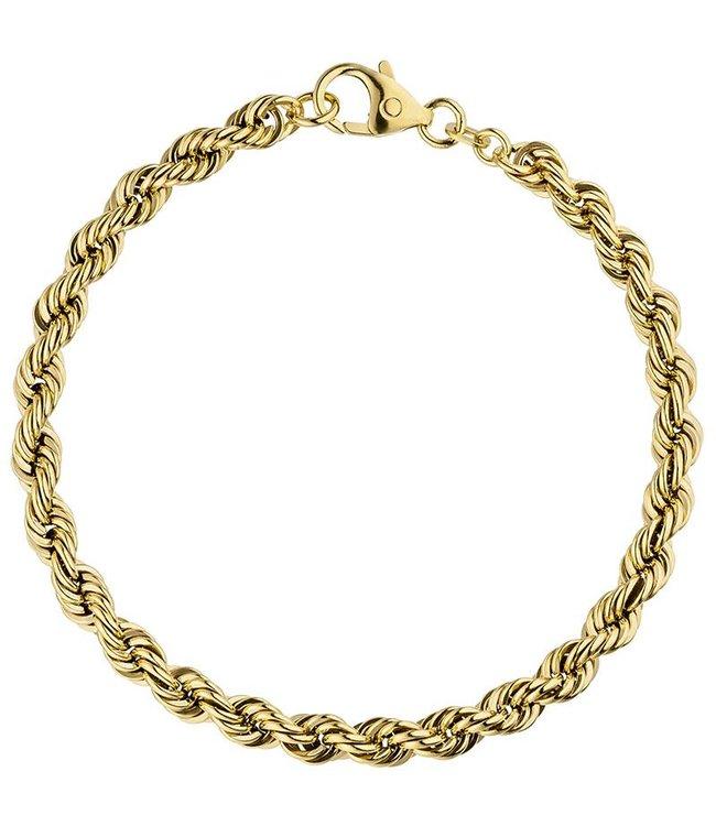 JOBO Koord armband van goud (585) 18,5 cm