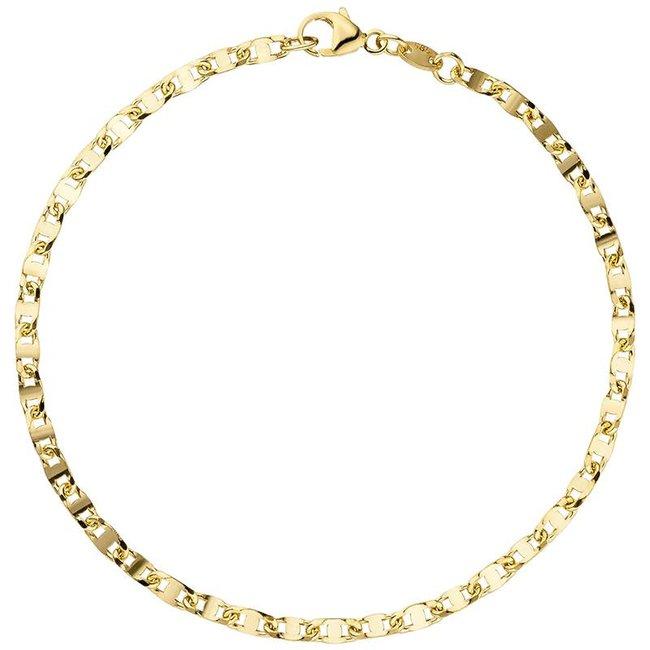 Gouden armband (585) 19 cm