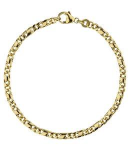 JOBO Gouden schakel armband 18,5 cm