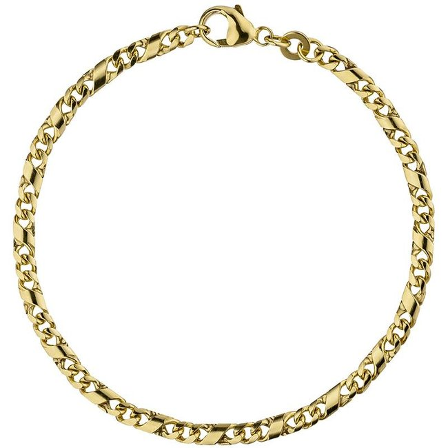 Gold chain bracelet (333) 18,5 cm