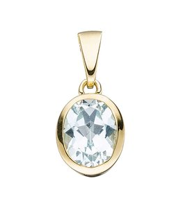 Aurora Patina Gold pendant blue topaz