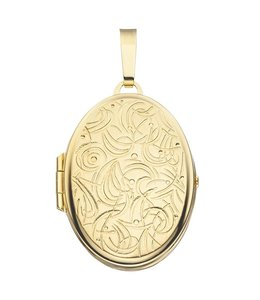 JOBO Gold locket oval with engravings