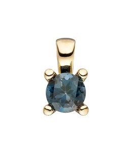 JOBO Gold pendant blue topaz London Blue