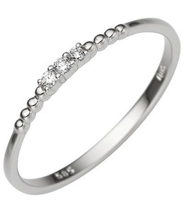 JOBO Ring in white gold with 3 diamonds