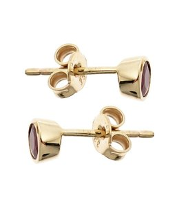 Aurora Patina Gold earstuds ruby