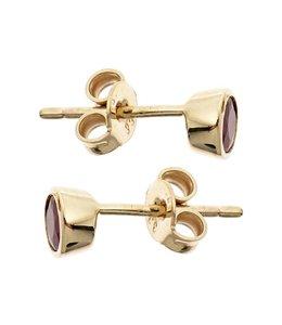 JOBO Gold earstuds ruby